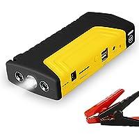 [Upgraded Model] 15800mAh Dual USB Port 400Amp Multifunction Car Jump Starter Emergency Kit Mobile Phone Power Bank with LED Flashlight