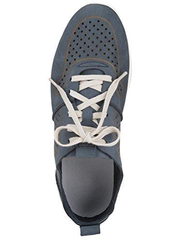 KLiNGEL Damen Schnürschuh mit Sommerlicher Lochung Jeansblau