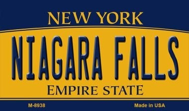 Niagara Falls New York State License Plate Magnet M-8938 Mini Licence Plate -