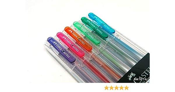 Faber Castell 242622 Super True Gel Colour - Estuche de 6 bolígrafos (0,7 mm), varios colores: Amazon.es: Oficina y papelería