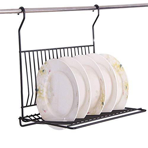Hanging Plate Racks - Agyvvt Wall Mounted Dish Drying Rack Draining Iron Stainless Steel Kitchen Hanging Folding Tableware Rack Plates Bowls Storage Organizer Holder