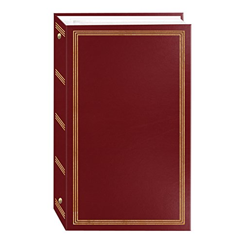 3-Ring Photo Album 300 Pockets Hold 4x6 Photos, Burgundy Red