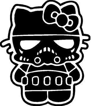 Hello Kitty Storm Trooper Vinyl Car Window Wall Decal]()