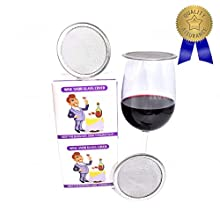 WineSnob Wine Glass/Drink Covers, Stainless Steel, Ventilated mesh discs most useful Outdoor drink guard protector for wine, beer, and all drink glasses. Keeps bugs out! Great for travel. 8 Pieces.