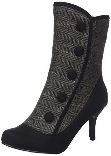 tweed Ankle Boots black Joe Browns Tweedy Donna A Stivali Nero Enchanting q7xz1t