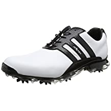 Adidas 2017 AdiPure Classic Mens Spikes Waterproof Leather Golf Shoes - Standard Fitting