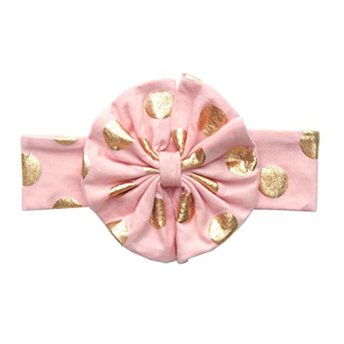 Price comparison product image Baby Headbands with Bow - Messy Code Fashion Cute Girl Sequin Bowknow Boutique Hair Hoops for Toddlers peach gold
