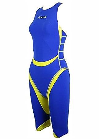 Mosconi traje Triatlón tiburón Mujeres Azul Real/amarillo, M, 32 ...