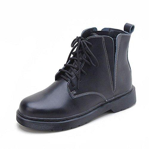 black black 42 Freddi Freddi Donna Stivali Termici CHENGREN Piatto Invernali e Stivali da Casual Pizzo Confortevole 42 Tq6wCnwBO