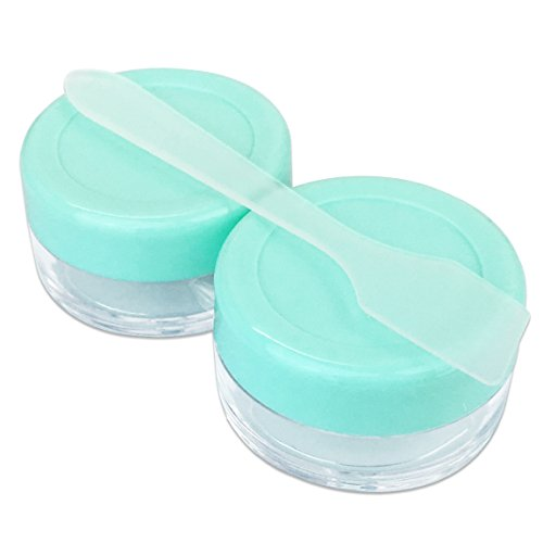 Beauticom 4 Pieces 10G/10ML Clear Plastic Jars with Light Te