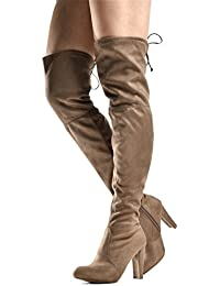 Women's Over The Knee Boots - Sexy Drawstring Stretchy...