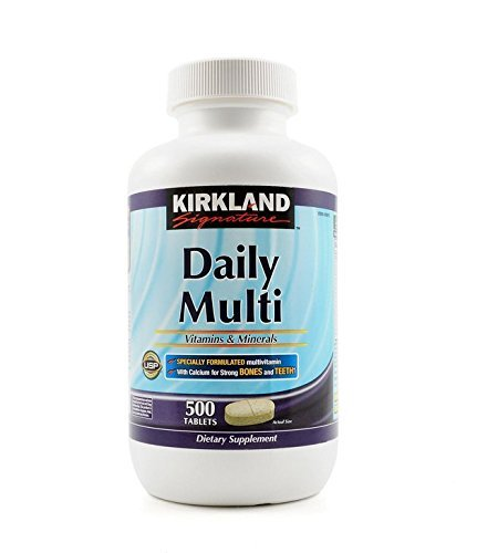 Kirkland Signature Daily Multi Vitamins & Minerals Tablets 2 Pack each of 500-Count Bottle