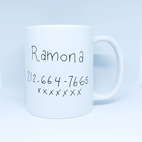 SAYOMEN - Wow Girl Number Coffee Mug - Scott Pilgrim - Ramona Flowers - FREE UK Delivery - Ships Worldwide - Sex Bob-Omb - Nerd - Film - Comics - Geek, MUG 11oz