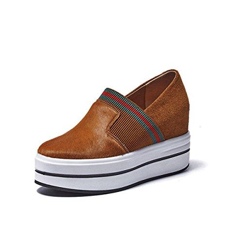 Informal CaramelColour Zapatos Zapatos Gruesos Plataforma Plataforma De De De Interna Cuña Zapatos Altura Zapatos NBWE De Mujer De X7OTngg8