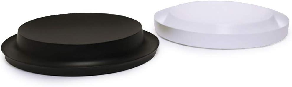 Nourse Chowsing Prevent Whisker Fatigue Cat Bowls Set Non-Slip Leak-Proof Cat Dish Black Cat Water Bowl and White Cat Food Bowls(2-Piece Set)
