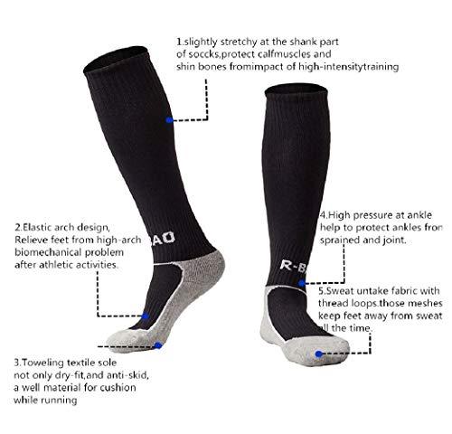 81ab99229d Uniprime Kids Long Soccer Socks Sports Team Tube Compression Stockings Knee High  Football Socks