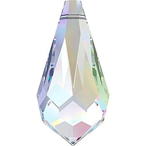 (6000 Swarovski Pendant Teardrop | Crystal AB | 11mm - Pack of 10 | Small & Wholesale Packs)