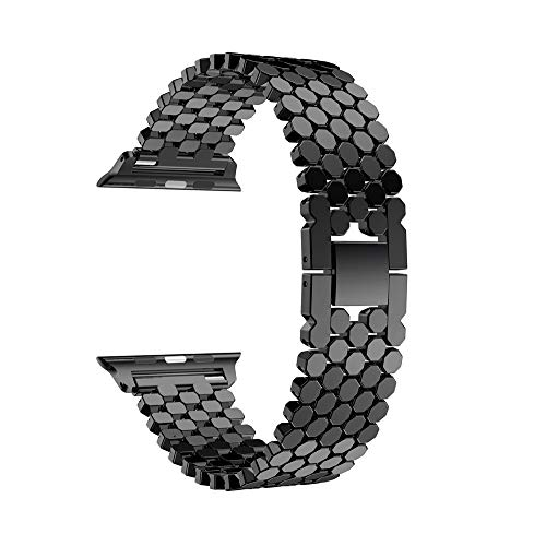 Orcbee  _Replacement Stainless Steel Watch Band Loop Strap for Apple Watch Series 4 44mm (Black) ()