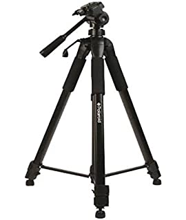 JVC Nikon Sigma Carrying Case for Canon Professional 57-inch Tripod 3-Way Panhead Tilt Motion with Built in Bubble Leveling Samsung Cameras Olympus Sony Panasonic Fuji Pentax