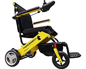 Forcemech Voyager R2- Ultra Portable Folding Power Wheelchair - Weights Only 43 lbs - Airplane Travel Approved by Forcemech