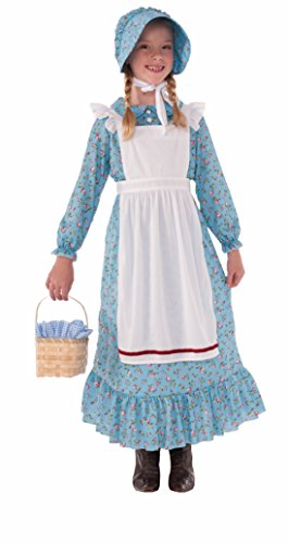 Girl Cowgirl Costumes (Forum Novelties Girls Pioneer Costume, Blue, Small)