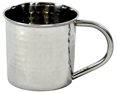 Hammered Stainless Steel Mug for Moscow Mules - 14 oz - by ALCHEMADE by Alchemade