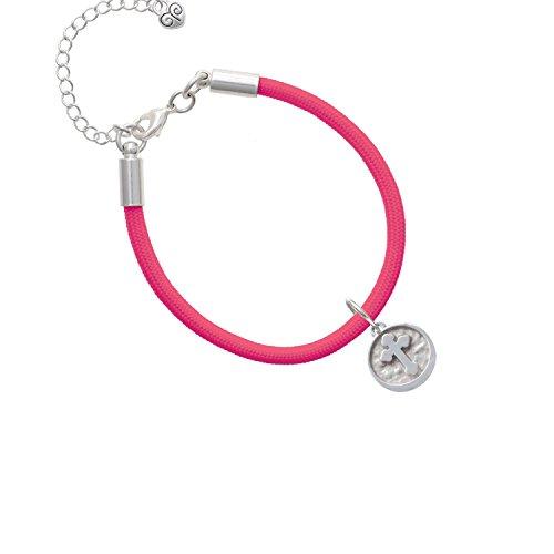 Botonee Cross - Round Seal Hot Pink Malibu Paracord Bracelet (Cross Botonee)