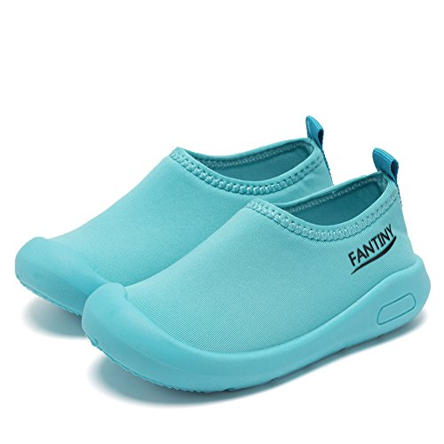 CIOR Kids Slip-on Casual Mesh Sneakers Aqua Water Breathable Shoes For Running Pool Beach (Toddler/Little Kid) SC1600 Blue 20 3
