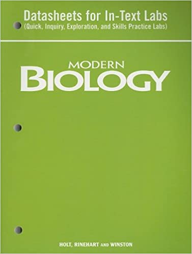 Amazon.com: Modern Biology: Datasheets for In-Text Labs (Quick ...