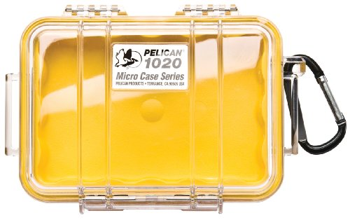 - Pelican 1020 Micro Case With Carabiner (Yellow/Clear)