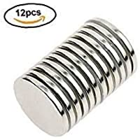 "Ace Power Magnets, Pack of 12 N52 Rare Earth Neodymium Super Strong Thin Magnets 1.26"" x .06"", Permanent, DIY, Office,Scientific, Craft, Fridge"