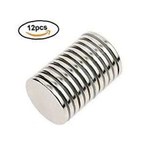 Ace Power Magnets, Pack of 12 N52 Rare Earth Neodymium Super Strong Thin Magnets 1.26'' x .06'', Permanent, DIY, Office,Scientific, Craft, Fridge by Ace Power Magnets