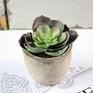 JruF [Mini Fleshy] Simulation of Succulent Bonsai, Fleshy Micro Landscape, Retro Bonsai Plant Ornaments, Green Decorative Small Artificial Plant 107