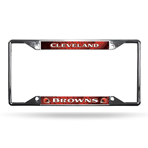 Rico Industries NFL Cleveland Browns Standard Chrome License Plate ()