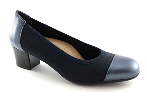 Grünland TORO SC1711 zapatos azules dcollet punta elástica Blu
