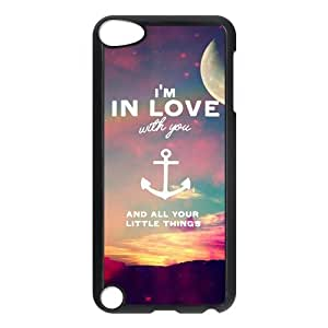 iPod 5 Case,I'm In Love With You And All Your Little Things Hard Snap-On Cover Case for iPod Touch 5, 5G (5th Generation)