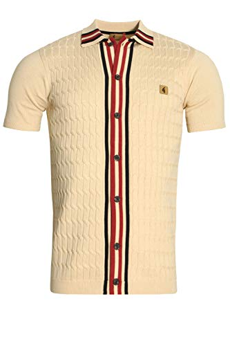 Danecroft Shirt Button Through Oat Beige Gabicci Polo FOwxgfqZPP