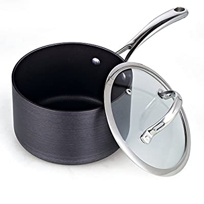 Cooks Standard NC-00340 Hard Anodize Premium Grade Nonstick Sauce Pan with Cover
