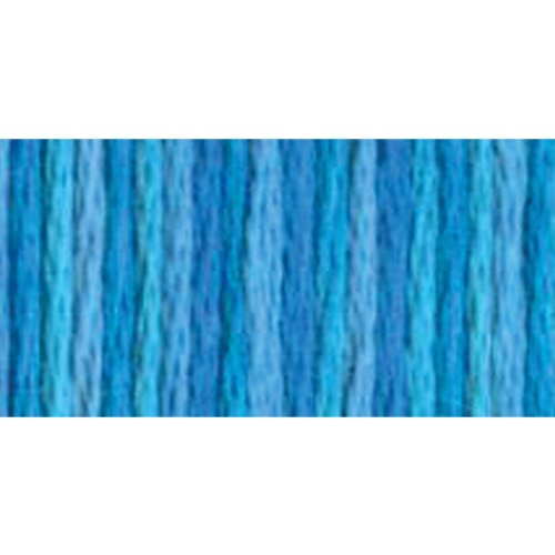DMC 417F-4022 Color Variations Six Strand Embroidery Floss, 8.7-Yard, Mediterranean Sea