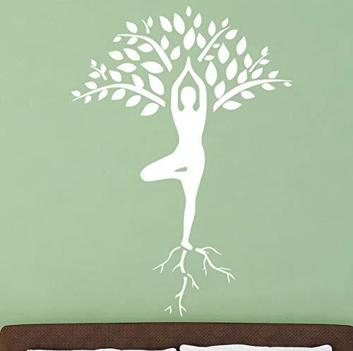 Dalxsh Slender Woman Yoga Pose Wall Sticker Tree
