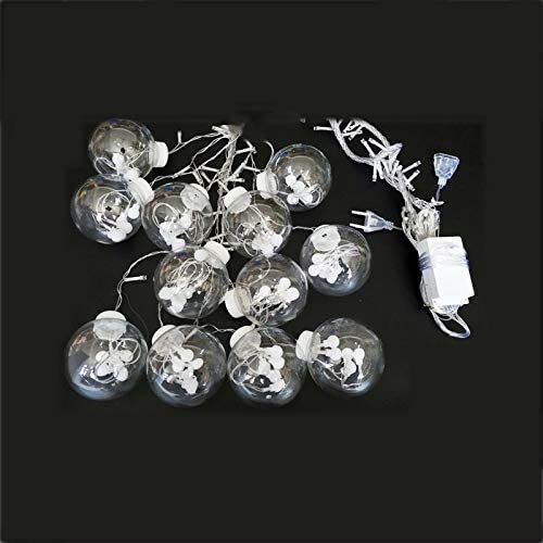 Lichterkette Außenhope Ball Curtain String, Led Lichterkette, Indoor Und Outdoor Outdoor Weihnachtskranz Party Hochzeit Garten Urlaub Dekoration, Pink, 3M
