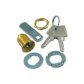 Cerradura de palanca, de sobreponer - Meroni 2151 - Diámetro 16 mm - Ltda, dorado: Amazon.es: Bricolaje y herramientas