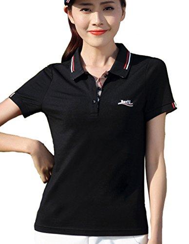 (ケイミ)KEIMI ポロシャツ レディース 半袖 Tシャツ 無地トップス ゴルフウェア スポーツウェア 作業服 UVカット 吸汗 速乾 通気 ストレッチ 事務服 オフィス制服 通勤 スポーツ トレーニング 大きいサイズ