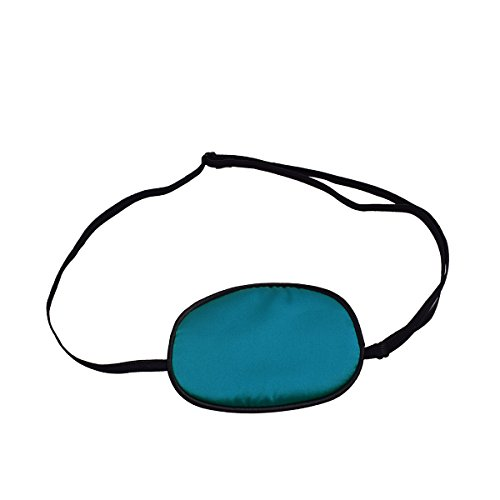 FCarolyn Silk Eye Patches, Not Light Leak, Smooth , Soft and Comfortable (Peacock Blue) (Peacock Eye Mask)