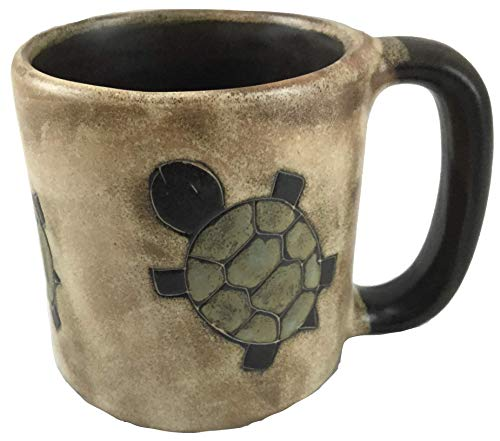 One (1) MARA STONEWARE COLLECTION - 16 Oz Coffee Cup Collectible Dinner Mug - Southwest Desert Turtle