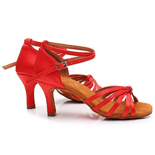 Scarpe Ballo Raso 7cm Scarpe da Donna Latino in da 217 da LP qualità di Ballo Alta Rosso Sala Ballo per HROYL qn5HOF0zww