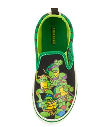 Teenage Mutant Ninja Turtles Toddler 7-12 Boy's Canvas Slip-on Sneakers (10)