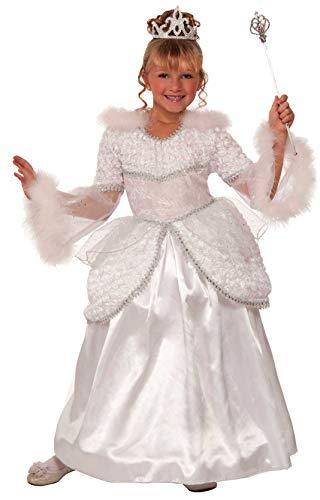 Forum Novelties Designer Collection Deluxe Snow Queen Costume Dress, Child Medium -