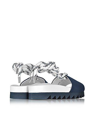Joshua Sanders Women's 10292SAWBLUESAILOR Blue Canvas Sandals lGT387e