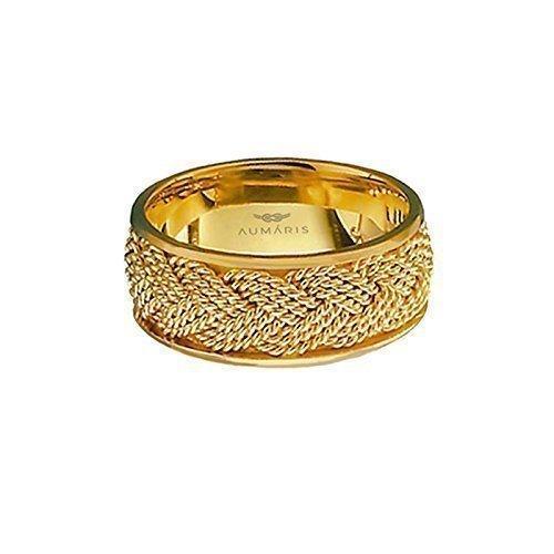14K Turks Head Rings Handmade 3 Strand Braided Nautical Wedding Band Gold 9mm (9mm Strands 3)